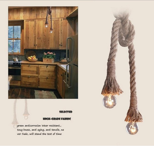 American Countryside Retro Loft Style Chandelier Single Double Head Coffee Shop Decoration Vintage Lamp Free Shipping<br>