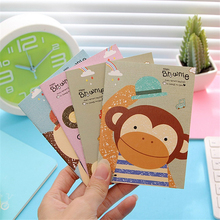 1Pcs Korean Creative Stationery Notepad Office Supplies School Cartoon Animals Style Notebook Diary Students Diary 2017