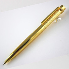 high quality 163 gold wave cover Ballpoint Pen Office School Stationery supplies luxury Writing pen(China)