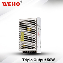 (T-50B) 50W triple 5V 12V -12V output switching power supply 50W triple power supply