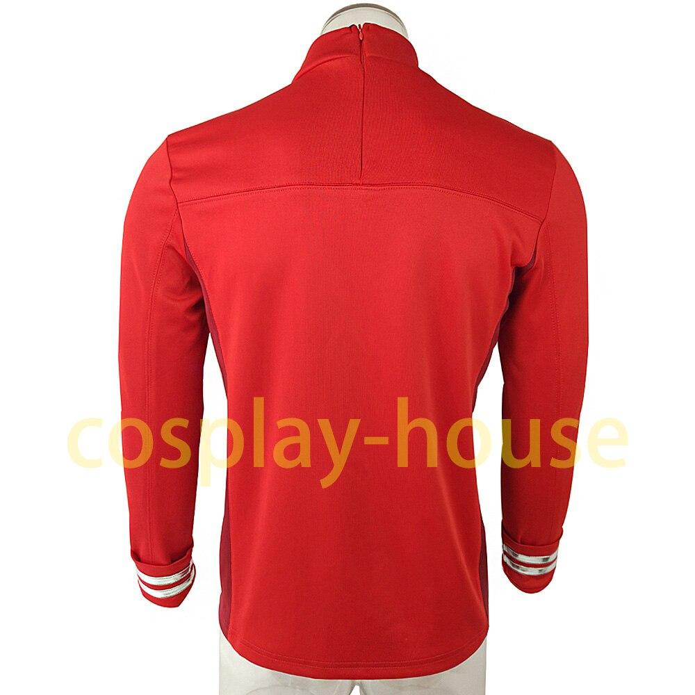Cosplay Star Trek Costume Beyond Red Captain Kirk Uniform Spock Blue Uniform Scotty Red Halloween party Prop (4)