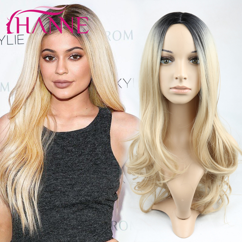 1B#15 Black to blond Ombre Synthetic Hair Wig Women ombre body wave Heat Resistant Freetress Hair Synthetic Hair loose wave wigs<br><br>Aliexpress