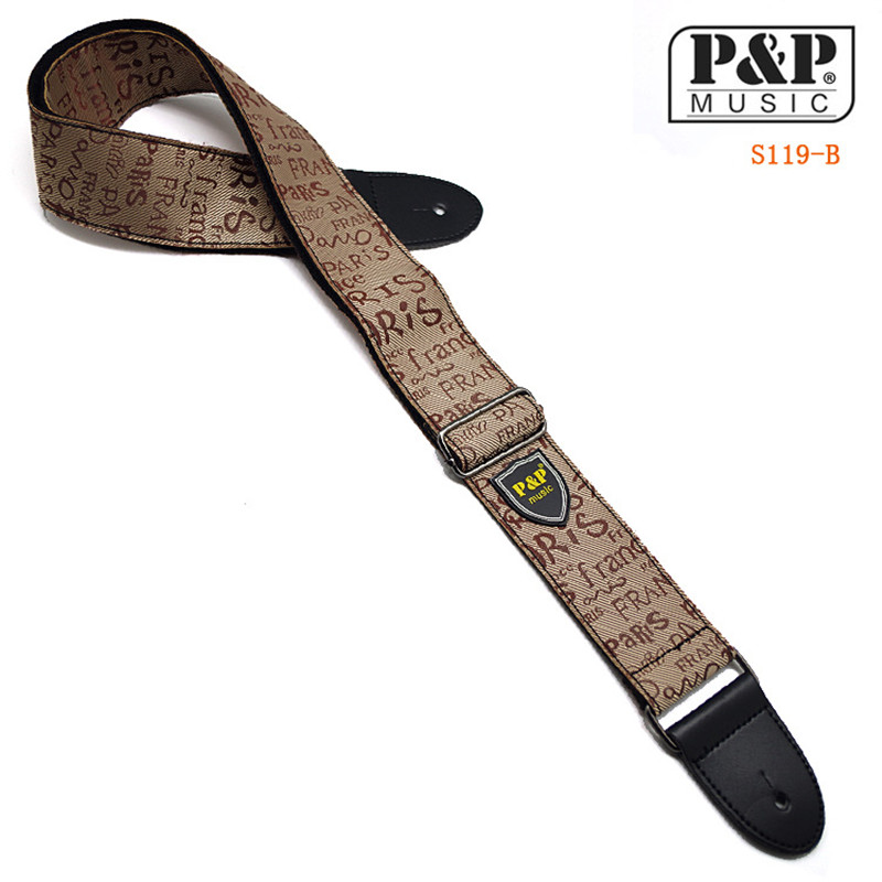P&amp;P Guitar Strap Adjustable Comfortable Acoustic Electric Folk Bass Guitar,Leather Head Guitar Strap Free Shipping S119<br><br>Aliexpress