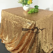 Hot 48inx72in Gold Sequin Tablecloth Rectangle Style For Wedding/Party/Banquet Wedding Table Cloth Decoration( Free SHIPPING)