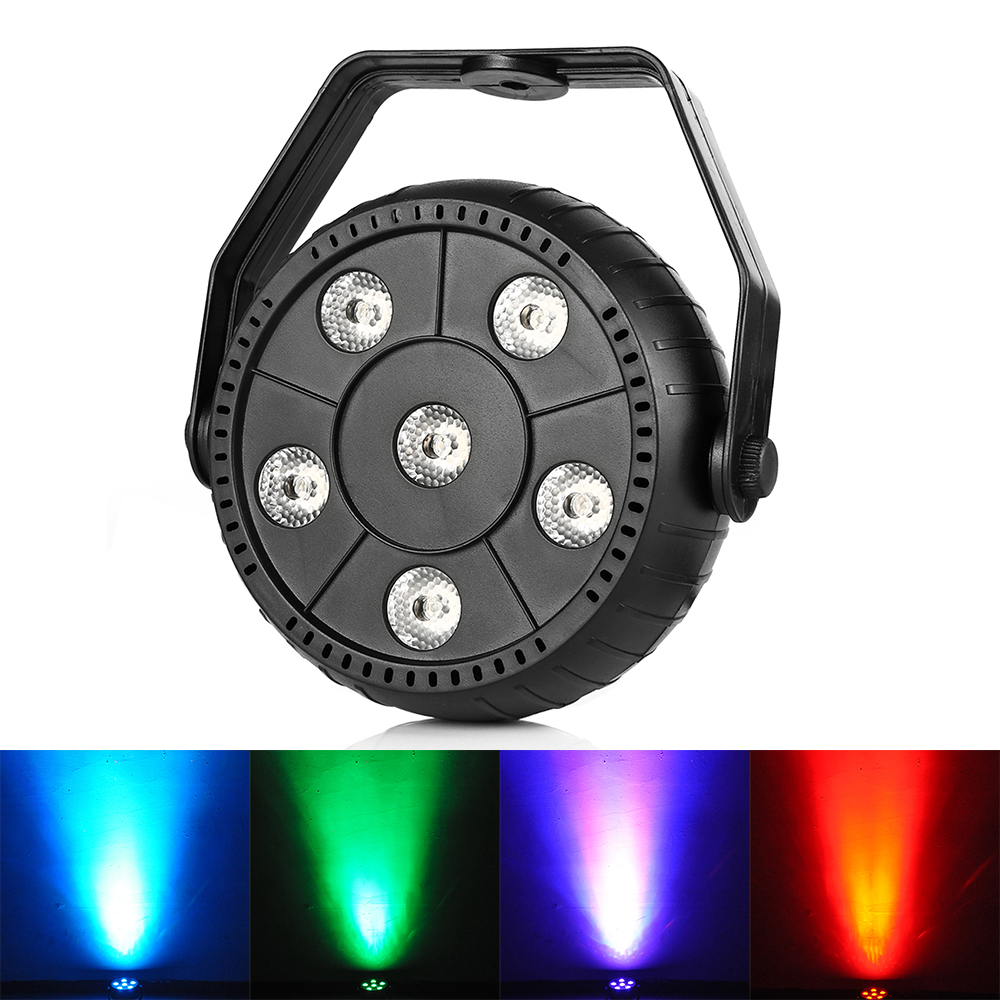 3 In 1 Mini 9W DJ Laser Disco Ball Stage Light 6 Led RGB Effect Portable Stage Par Light Auto Sound Activation Indoor Disco Lamp