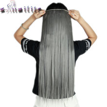 S-noilite 26inches Silky Straight Long Clip in Full Head Hair Extensions Piano Colors 5clips ins Natural Synthetic Hair piece(China)