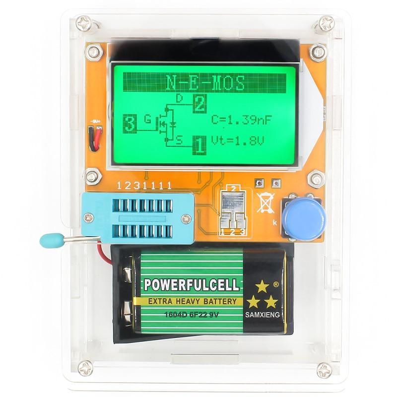 16 Latest LCR-T4 ESR Meter Transistor Tester Diode Triode Capacitance Mos Mega328 Transistor Tester + CASE (not Battery ) 8