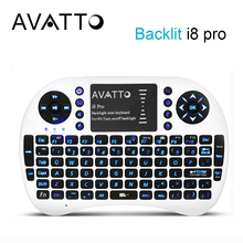 [AVATTO] Original i8 PRO Backlit 2.4G Wireless Air Mouse with Touchpad Handheld Mini Keyboard for Smart tv,PC,laptop,Android Box