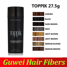 TOPPIK Hair Building Fibers Best Salon Barber Instant Hair Styling Powder Thickening Keratin Hair Fibre Concealer 27.5g(China)
