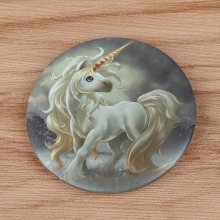 Lucky Anime Unicorn Cloth Badge brooch Pin bedge insigne Home Car Home Hat backpack Decor unicorno eenhoorn tek boynuzlu at Gift(China)