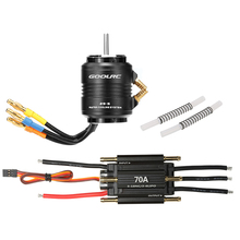 Original GoolRC 70A Brushless ESC and 2958 4200KV Motor with 29-S Water Cooling Jacket Combo for 600-800mm RC Boat