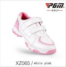 PGM Children's Golf Sneakers Boys and girls Waterproof 3D breathable slot anti-skid patent shoes Outdoor Breathable Golf Shoes(China)