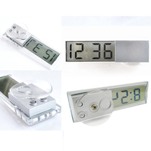 Durable Digital LCD Display Car Electronic Clock With Sucker Cool(China)