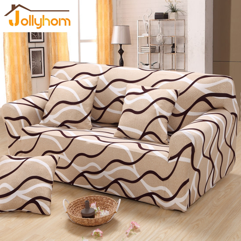 Image 1 Piece Cozy Anti skid Sofa Cover Tight Wrap Elasticity Sitting Room Chaise Cover Antifouling Washable Furniture Cover 24 Colors