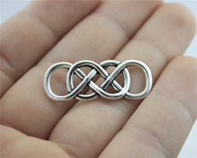 Buy WYSIWYG 6pcs 33*12mm 3 Colors Antique Silver, Antique Gold, Antique Bronze Double Infinity Connector Charms for $1.19 in AliExpress store