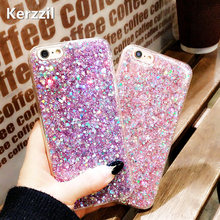 Buy Kerzzil Candy Shining Powder Sequins Phone Cases iPhone X 7 6 S Plus Case Soft Silicone Glitter Back Cover iPhone 8 Capa for $2.18 in AliExpress store