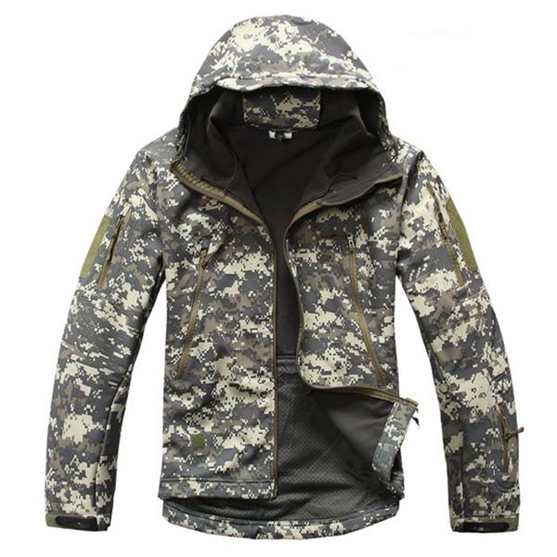 Lurker Shark Skin Soft Shell V4 Military Tactical Jacket Men Waterproof Windproof Warm Coat Camouflage Hooded Camo Army Clothing
