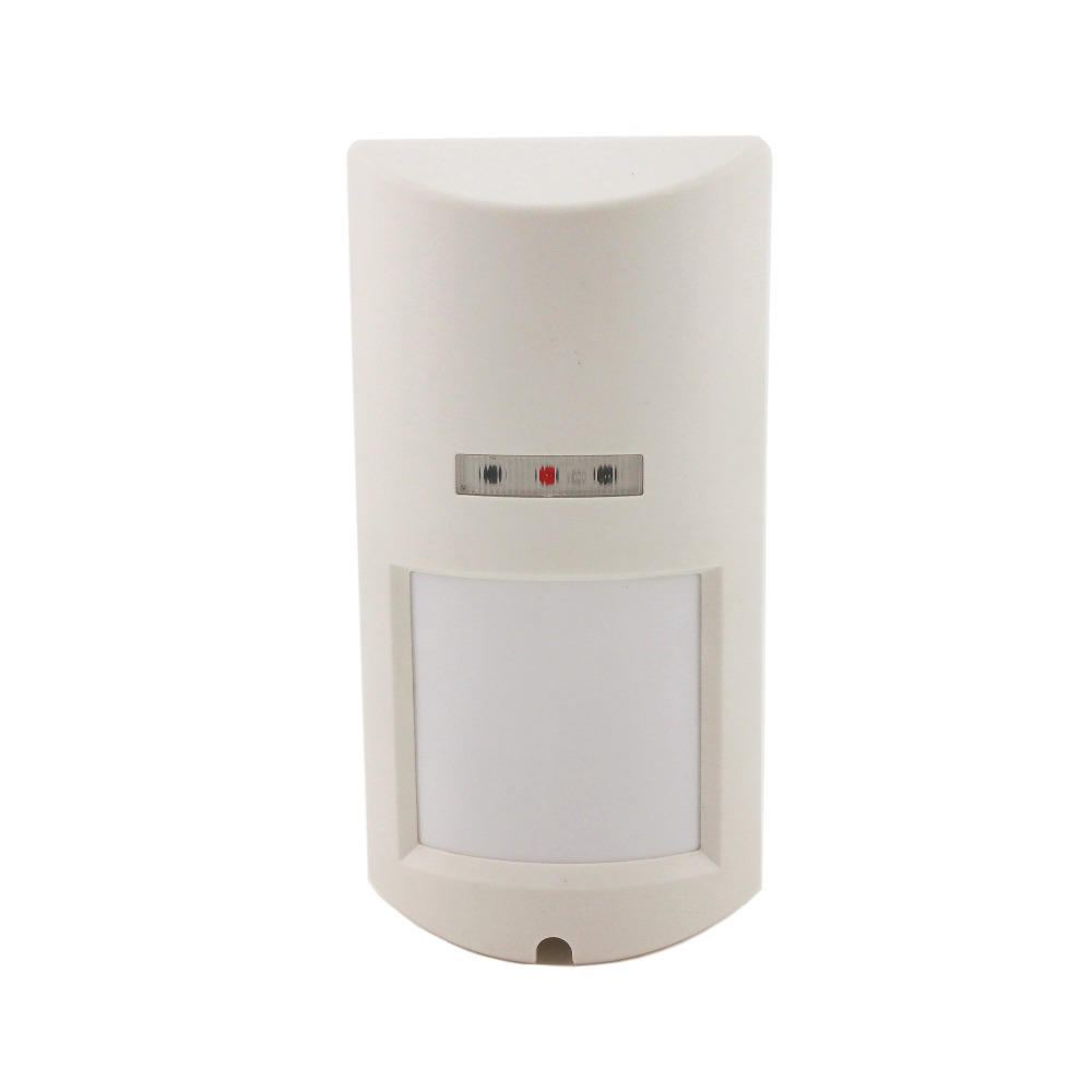 Wide Angle Outdoor PIR+Microwave Dual Tech Alarm Motion Sensor Waterproof Wired PIR Detector for House Intruder Alarm System<br>