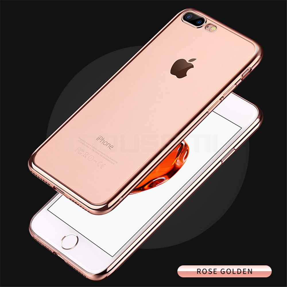 MOUSEMI Phone Cases For iPhone 7 Case Transparent Silicone Plating Soft Cover For iPhone 7 Plus Case For iPhone 77 Plus (9)