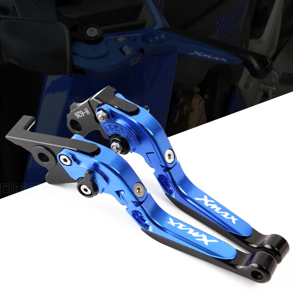 with logo XMAX Motorcycle CNC aluminum Adjustable brake clutch levers For Yamaha X-MAX 250 300 400 handle bar accessories<br>