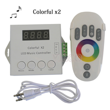 DC5-24V WS2812B WS2811 WS2813 6803 USC1903 IC Digital Addressable LED Strip Music Controller 1000 Pixels Colorful Controller(China)
