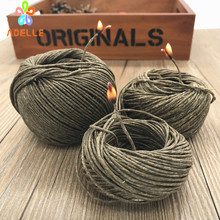 1.5mm* 250ft(76m) Hive Hemp Wick Bees Waxed hemp Twine Rope cigarette Lighter candel craft free shipping NEW high quality(China)