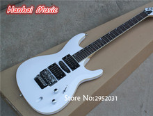 Hot Sale Custom Electric Guitar,White Body,Open Pickups,24 Frets,Floyd Rose,Maple Neck,Chrome Hardware,can be Customized
