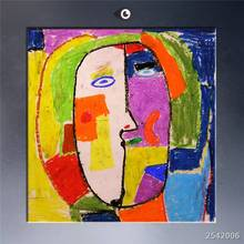 The Famous Abstract Oil Painting Cubic Face Print On Canvas Free Shipment gift Rectangle Canvas Printings Other 40x40cm 50x50cm