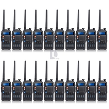 Upgrade Version 20PCS BAOFENG UV-5X Dual Band two Way Radio UHF+VHF 65MHz~108MHz 128 Channel DCS CTCSS+ 20x Earpiece(China)
