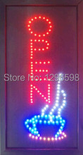 2017 hot sale 10X19 inch indoor Ultra Bright flashing lunch open sign of led-