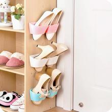 1pc Wave Style Living Room Bathroom Shoes Rack with Double Sides Tape Wall-Mounted Type Shoes Storage Holder(China)