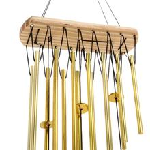 Garden Home Decor Relaxing Wood Copper Tubes Wind Chimes Bells Bring Silvery Sound