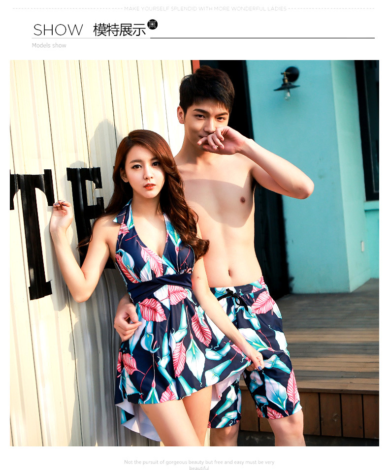 Couple swimwear lovers swimsuit quick dry beachweartwo pieces family bodywear man trucks beach suit light swimming suit cover up<br><br>Aliexpress