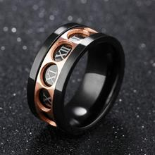 European and American accessories wholesale market can rotate twelve Rome digital domineering personality ring rotating ring(China)