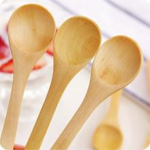 DIY Wood Coffee Spoon Small Ice Cream Scoop Pudding Spoon Child Cutlery Honey Spoon
