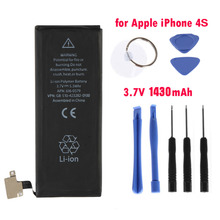 Portable Smart Phone Battery Rechargeable Mobile Phone Battery 1430MAH Capacity + Machine Kit Tool For Iphone 4S