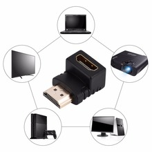 Black Color 270/90 Degree Angle For 1080P HDTV For HD Adapter HDMI Male to HDMI Female Cable Adaptor Converter Extender