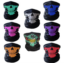 Motorcycle SKULL Ghost Face Windproof Mask Beanie Hat Outdoor Sports Warm Ski Mask Caps Bicyle Bike Balaclavas Bonnet Scarf Man