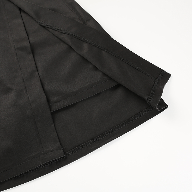 16Sweetown Black Korean Style Women Skirt Womens Vogue Belt High Waist Short Skirts Woman Sexy Cotton Split Side Summer 2018 Skirt