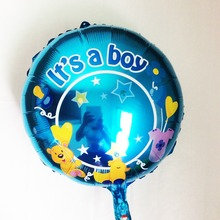 wholesale 50pcs/lot baby boy mylar balloons 18inch it's a boy foil ballons for baby shower decorating baby birthday baloes