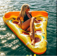 New-style Water Toy Giant Yellow Inflatable Pizza Slice Floating Bed/Raft Air Mattress 180*150 CM Summer Holiday(China)