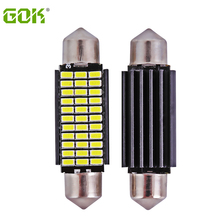 2 x 41MM Festoon led Dome C5W 42mm 3014 33SMD LED Canbus Car Door Reading light Luggage Bulb car led source(China)