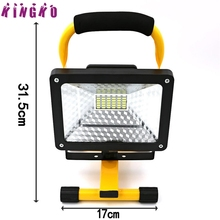 High Quality 50W 36 LED Portable Rechargeable Flood Light Spot Work Camping Fishing Lamp lampara recargable(China)
