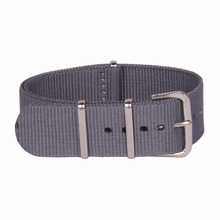 Buy 2 Get 20% OFF) 16 mm Army Grey Military nato fabric Woven Nylon watchbands Strap Watch Band Buckle belt 16mm accessories
