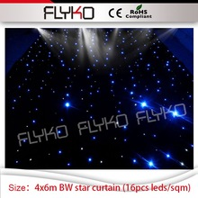 DJ disco led star curtain 4mx6m led star wedding backdrops wall blue and white single color leds starlight led curtain