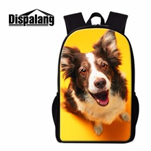 Dispalang trendy design teenager students back pack pet dog double-shoulder school bag casual daily backpack for student bags
