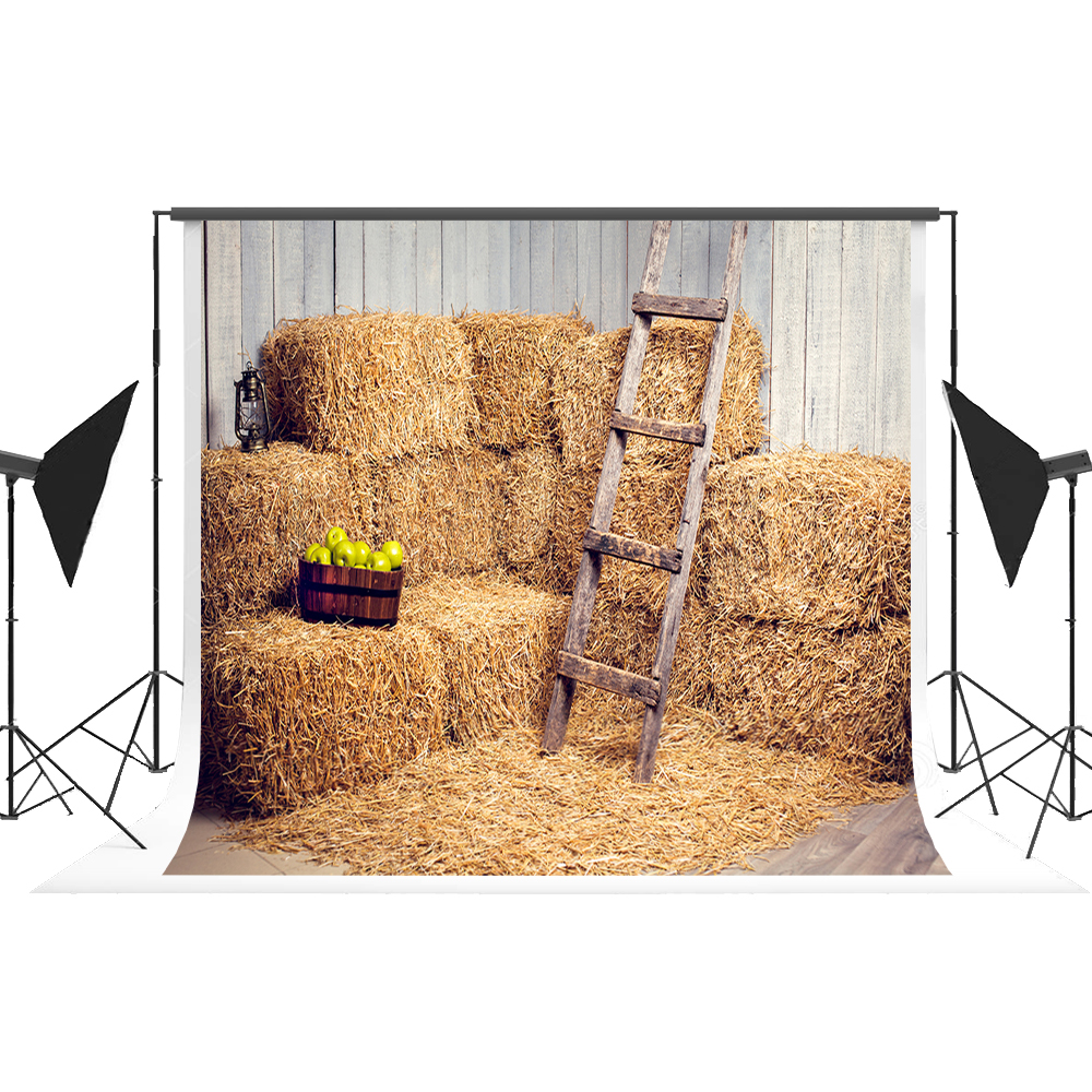 7x5ft Backdrop for Photography Cotton Grass Pier Photographic Background Farm LandFoto for Fond Studio Photoshoot Kate <br>