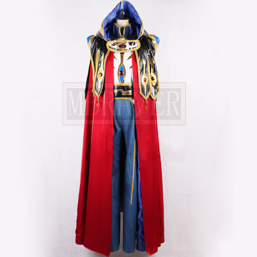 Code Geass knight of seven Cosplay Costumes Men's Cloak Tuxedo Halloween Party Suit Any Size