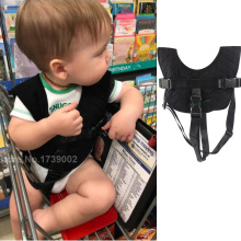 Baby Flight Vest Travel Harness Train Car Safety Vest Shopping Cart Trolley Cover (Black)(China)