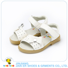 Summer White bow kids Sandals Infant Girls Soft Sole Princess leather Shoes